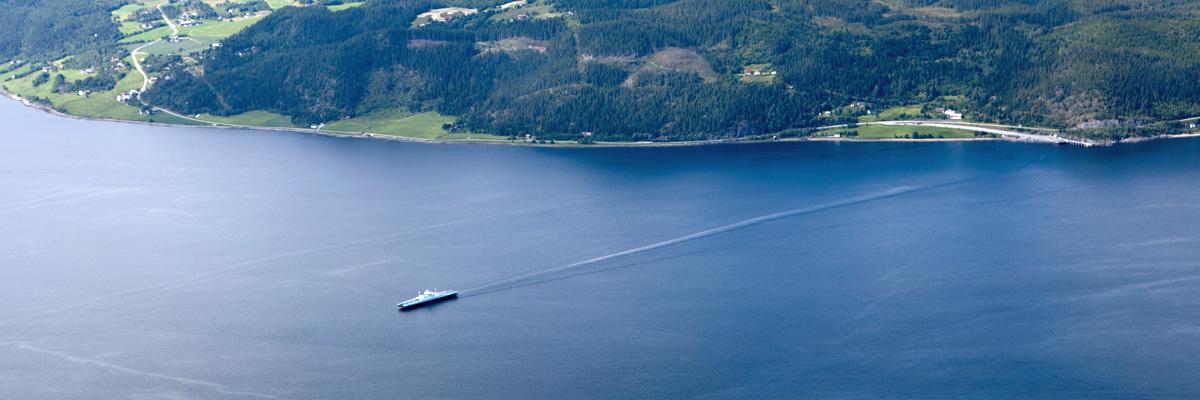 Ferry at Rørvik (connection Flakk-Rørvik)